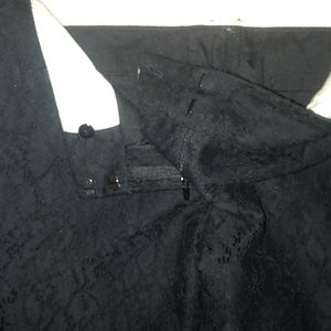 GWEN BLACK LACE PANTS LINED BOOT CUT TAILORED NEW